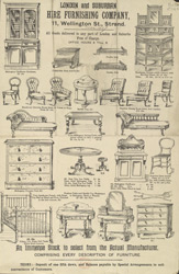 Advert for the London & Suburban Hire Furnishing Company